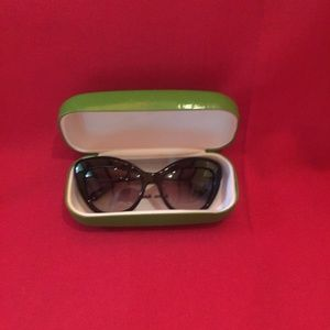 Kate Spade Cat's Eye Sunglasses and Case